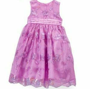 Size 5 Rapunzel inspired purple sequin dress NWT